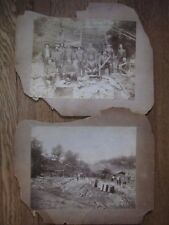 Pair of Early Sawmill Images, Clarksville, Texas (?) c. 1860s-70s, Interesting!