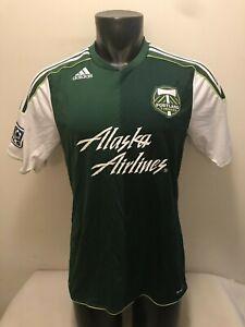Portland Timbers Alaska Airlines MLS Adidas Clima Cool Soccer Jersey Mens Medium