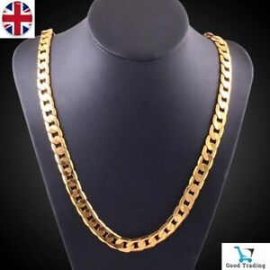 "REAL 18K GOLD FILLED MENS/ LADIES UNISEX LINK CHAIN NECKLACE 20"" XMAS GIFT"