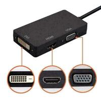 Mini Display Port to HDMI DVI/VGA Adapter For Pro MACBOOK AIR IMAC Apple Mac vg1