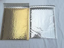 20 Gold and Silver Poly Bubble Mailers, 10x15 Padded Mailing Shipping Envelopes