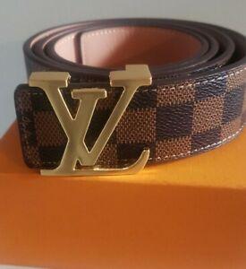 Authentic Louis Vuitton Brown Damier Belt 90 / 34