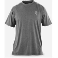 Mens NWT Browning Performance Short Sleeve Soft Tech Tee Charcoal Gray Size S