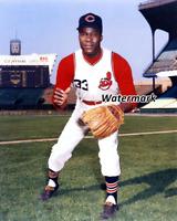 MLB 1960's Jim Mudcat Grant Cleveland Indians Color 8 X 10 Photo Picture