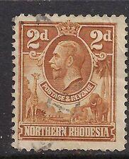 NORTHERN RHODESIA 1925 -29 KGV 2d Brown SG4 (B213