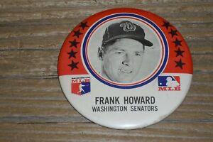 """1969 MLB MLBPA Frank Howard Washington Senators Pin - Celluloid PM10 3 1/2"""" Pin"""
