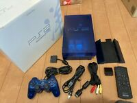 Sony PlayStation 2 Console SCPH-37000 Ocean Blue Color with BOX and Manual