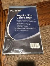 LOT OF 100   BAGS FOR COMIC BOOKS               NEW FREE SHIPPING!!!!!!