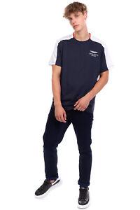 ASTON MARTIN RACING By HACKETT T-Shirt Top Size 2XL Two Tone Short Sleeve