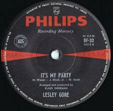 Lesley Gore ORIG OZ 45 It's my party VG+ '63 Philips BF32 Girl group Pop