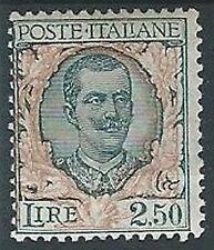 1926 REGNO FLOREALE 2,50 LIRE MH * - T145