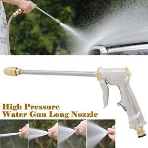 High Pressure Water Spray Gun Brass Nozzle Garden Lawn Windows Car Wash 4Modes