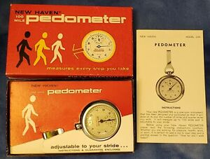 Vintage New Haven Pedometer Exercise Running Walking Model 230 Free USA Shipping