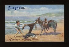 Lincolnshire Lincs SKEGNESS Donkey Comic Tuck Oilette #9494 PPC 1908