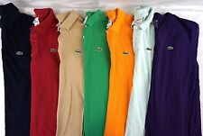 Lacoste Men's Lot of 7 100% Cotton Short Sleeve Polo Shirts/T-Shirts XXL EUR 7