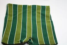 1960s Swim Shorts Cloth Striped Swimming Trunks Shorts / Mens S/M