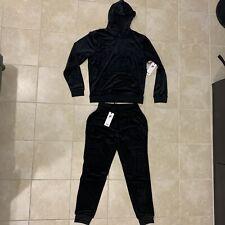 Fila Men's Velour sweatsuit Hoodie tracksuit Black New With Label Sz M XL XXL
