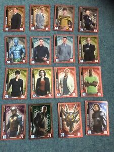 HERO ATTAX MARVEL CINEMATIC UNIVERSE RARE TRADING CARDS X 16 WITH FREE POSTAGE