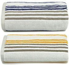 Allure Merlin Luxury Supersoft 100% Combed Cotton Bathroom Striped Bath Towels