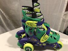 Teenage Mutant Ninja Turtles Kids 2 In 1 Convertible Inline Skates, Size J6-J9