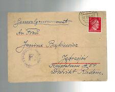 1943 Germany Oranienburg Concentration Camp Cover KZ Jozef Kujawa Radom  Poland