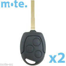 2 x Ford Focus/Mondeo/Falcon Remote Key Blank Replacement Shell/Case/Enclosure