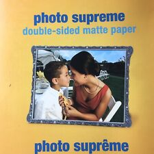 """Staples Photo Supreme Paper 8.5"""" x 11"""" Double Sided Matte 50 Per Pack 100 Total"""