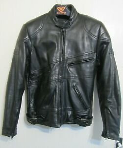 VINTAGE 80'S BELSTAFF HEAVY LEATHER PERFECTO MOTORCYCLE JACKET SIZE 40