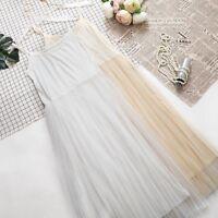 Ladies Full Slip Petticoat Underskirt Render Long Underdress Net Yarn Slip Skirt