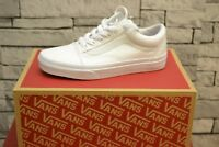 BNIB Vans OLD SKOOL TRUE WHITE CANVAS TRAINERS. UK SIZES 3,5,6,7,8,9,10,11