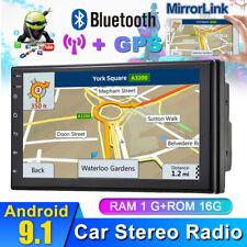 Andriod 9.1 GPS Navi Autoradio Doppio 2 Din Quad-Core Stereo 7'' BT WIFI FM MP5