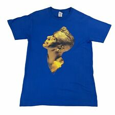 More details for robbie williams 2013 take the crown tour graphic print t-shirt top - medium