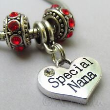 Special Nana European Heart Charm And Birthstone Beads For Charm Bracelets