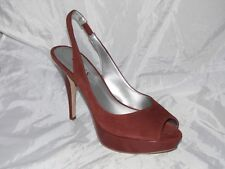 New Display Guess Open Toe Sandals By Marciano Layne4-M Medium Brown Suede  9