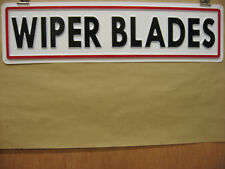WIPER BLADES Automotive Service Sign 3D Embossed Plastic 5x22, Shop Garage Store