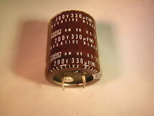 Nippon Chemicon Electrolytic Capacitor 200V 330uF 35mm X 30mm 2 pieces OL0628