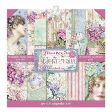 "NEW Stamperia 12"" x 12"" Paper Pad Hortensia"