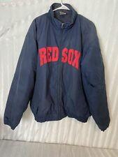 adidas Zipper Up Boston Red Sox Jacket Sz Medium Blue And Red