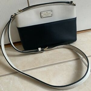 Kate Spade Millie Grove Street Black & White Shoulder Messenger Cross body bag