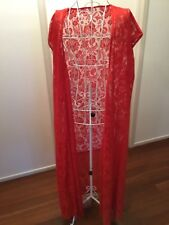 RED LACE MAXI SLEEVELESS  DUSTER KIMONO THROW OVER one size fits most