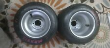 Go Kart Racing Aluminum Silver Wheels with Pink Maxxis Tires Used