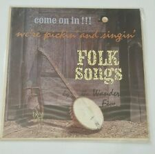 "The Wanderin Five ""We're Pickin And Singin"" FOLK LP Vinyl Record VG+ Vintage"