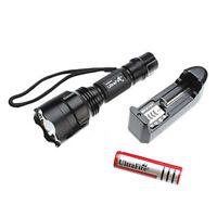 2200 Lumens  C8 CREE XM-L T6 5-mode LED Flashlight Torch +Charger