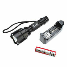2200 Lumens  C8  XM-L T6 5-mode LED Flashlight Torch +Charger