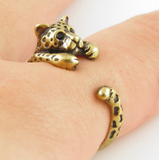 Leopard Animal Ring Adjustable Gold Leopard Finger Wrap Ring Size 4 to 8