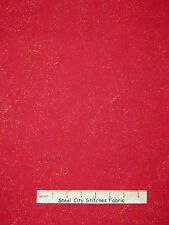 Christmas Fabric - Red Gold Metallic Sparkle #23300 QT The Christmas Star - Yard