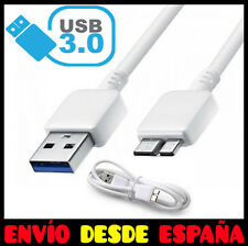 CABLE USB 3.0 MICRO CARGA DATOS PARA SAMSUNG GALAXY S5 I9600 NOTE 3 N9000 BLANCO