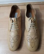 FRATELLI ROSSETTI DESIGNER WOMENS TAN BEIGE LEATHER FLAT SHOES SIZE UK 3.5 36.5