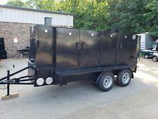 Mega Big Butt W Sinks Storage Bbq Smoker Grill Trailer Food Truck Concession
