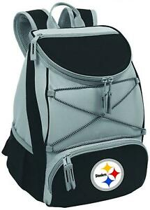 NFL Pittsburgh Steelers PTX Insulated Backpack Cooler, Black